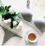 Комплект нижнего белья Cotton Lightly Lined Wireless Bra Victoria`s Secret