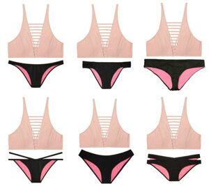 Купальник Ladder Front High Neck Victoria`s Secret (PINK)