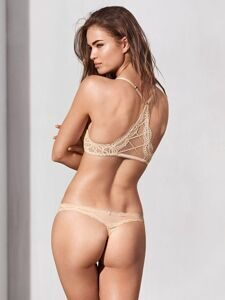 Трусики Lace-trim Thong Victoria`s Secret