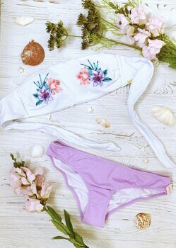 Бандо Embroidered Victoria`s Secret (PINK)